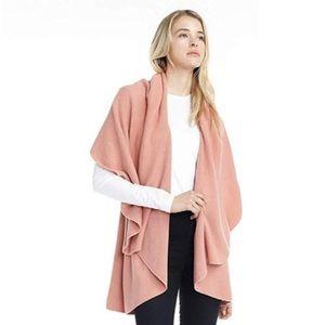 Look Basic Shawl Vest Blush Pink OS